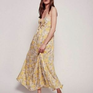 Free People Mulberry Printed Evening Maxi Dress S